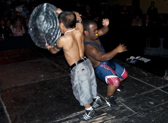 Black midget wrestler