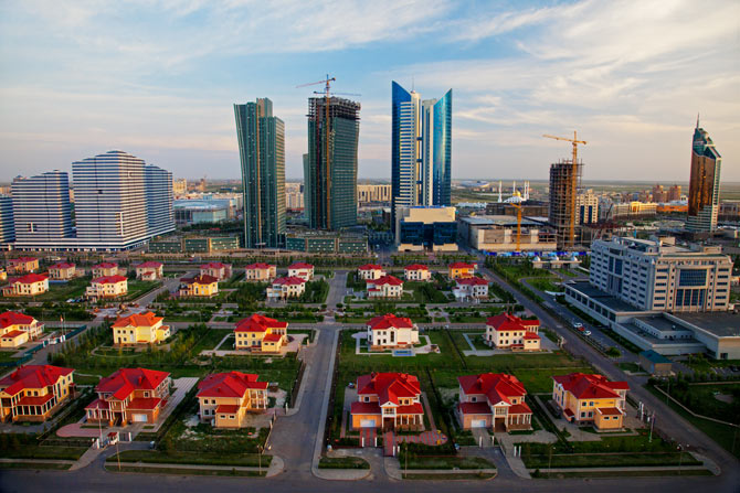 Astana, new capital of Kazakhstan has grandiose architecture ...