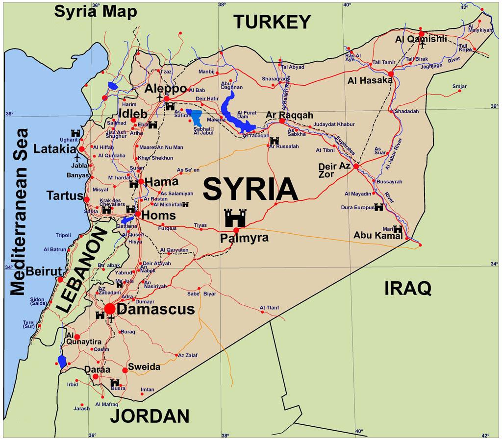 Syria-Guide-Map | Markosun\'s Blog