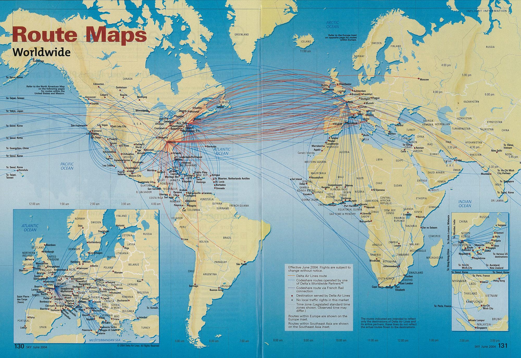 Delta Flight Map map south africa treasure maps