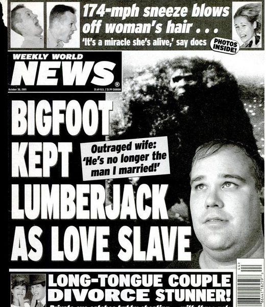 """""""Weekly World News""""-Schlagzeile"""