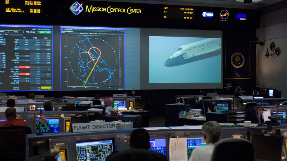 Mission Control Monitor : Nasa mission control center marks th anniversary
