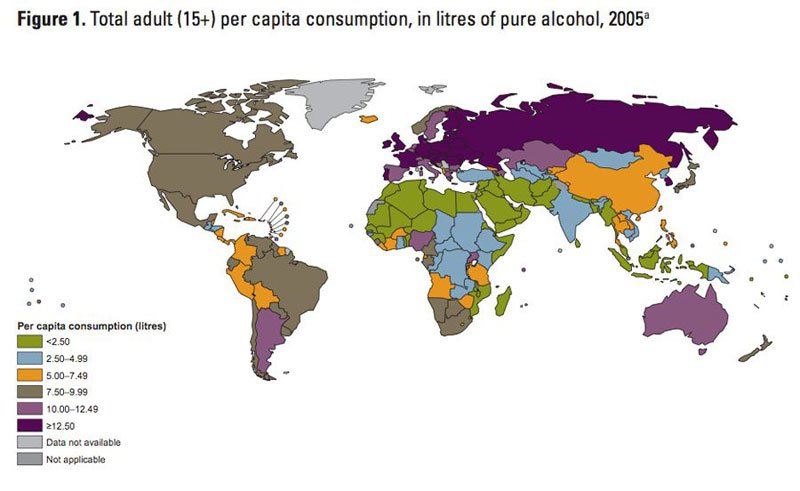 map-of-alocohol-consumption-around-the-world