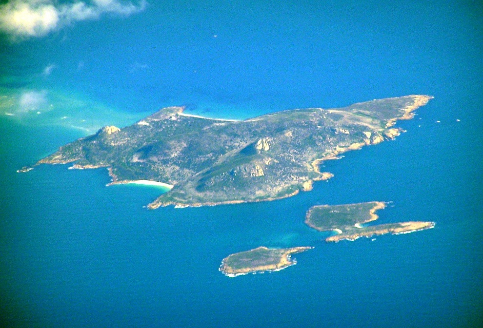air tasmania Babel_Island_Aerial
