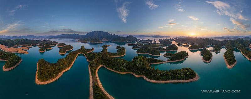 air thousand island lake china