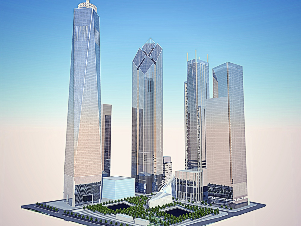 The re designed concept for two world trade center for 2 world trade center