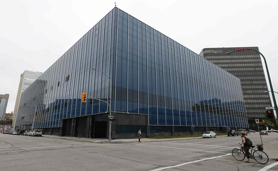 New Wpg Police HQ , former Canad Post Bldg . Is said to have water leaking problems from this summers rain storms . Bar kives story . Aug 22 2014 / KEN GIGLIOTTI / WINNIPEG FREE PRESS