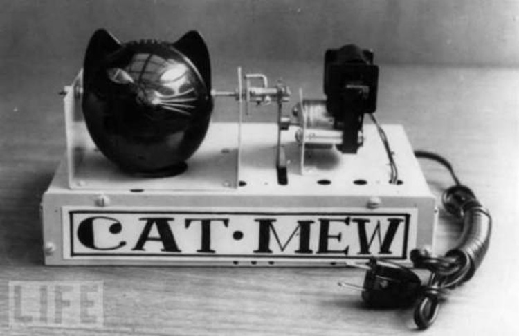 invent mouse scaring machine made caT sounds