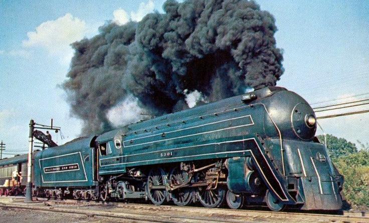 train12 The Cincinnatian Baltimore and Ohio steam locomotive 1956
