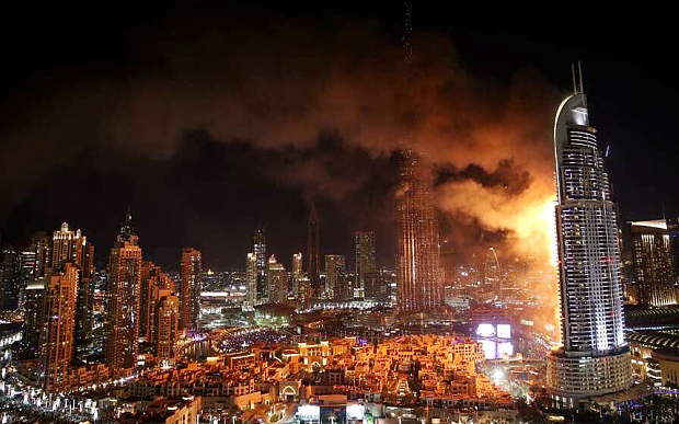 Lovin Dubai ø@lovindubai  29m29 minutes ago The Address Hotel in Downtown Dubai has just erupted in flames! http://lovindubai.com/dubai/the-address-hotel-in-downtown-dubai-has-just-erupted-in-flames Ö  Muhammad Lila ø@MuhammadLila  2m2 minutes ago Dubai officials say fire broke out on 20th floor of The Adress, originated from outside the hotel.