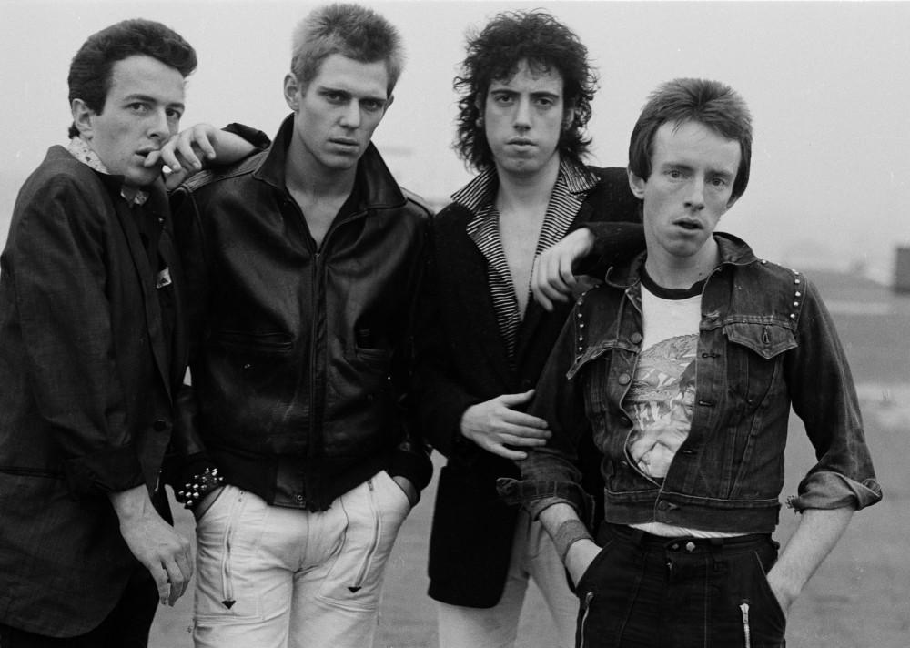 English punk rock group The Clash, New York, 1978. Left to right: singer Joe Strummer (1952 - 2002), bassist Paul Simonon, guitarist Mick Jones and drummer Nicky 'Topper' Headon. (Photo by Michael Putland/Getty Images)