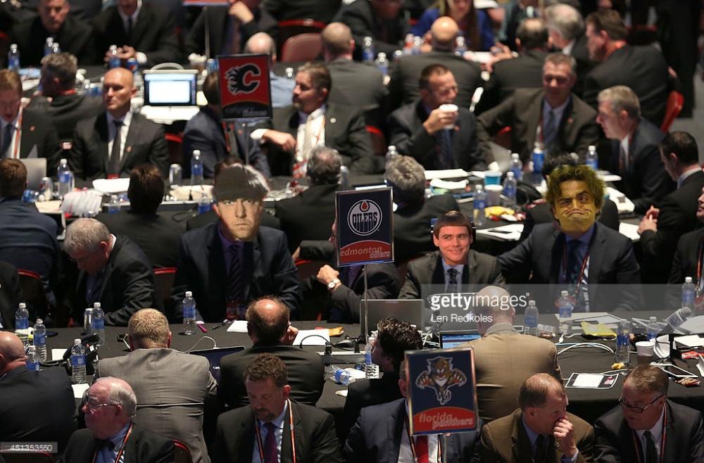 during the 2014 NHL Entry Draft at Wells Fargo Center on June 27, 2014 in Philadelphia, Pennsylvania.