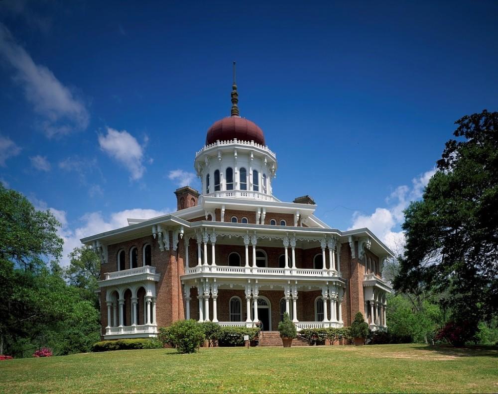 plant Oriental Villa mansion, Longwood, in Natchez, Mississippi.