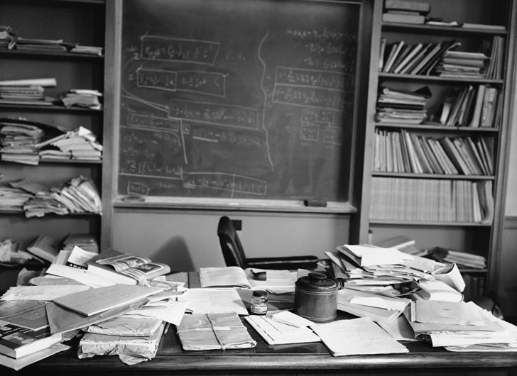 rare einstein's desk 1955 after he died