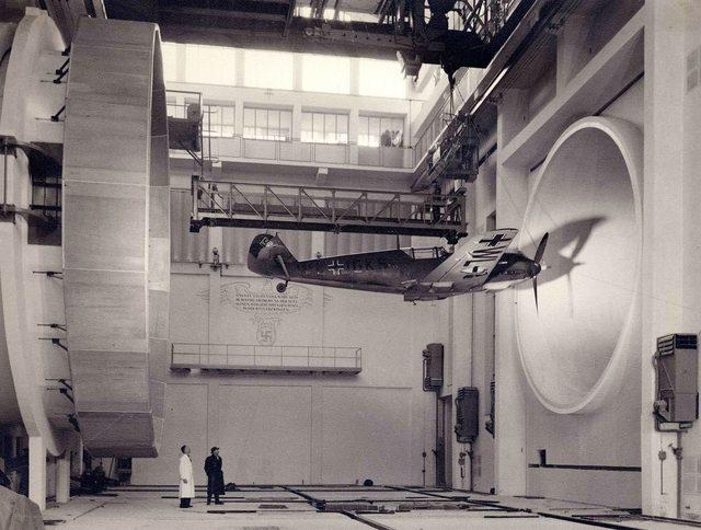 rare Germans testing a Messerschmitt Bf 109 E3, 1940