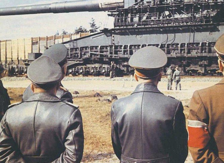 rare gustav railgun 1942 hitler