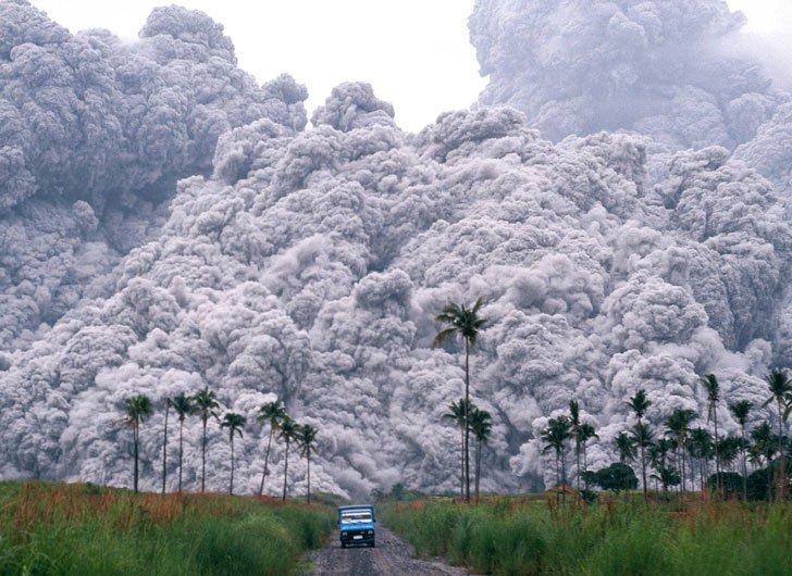 rare june 17 1991 Mt. pinutubo pyroclastic flow