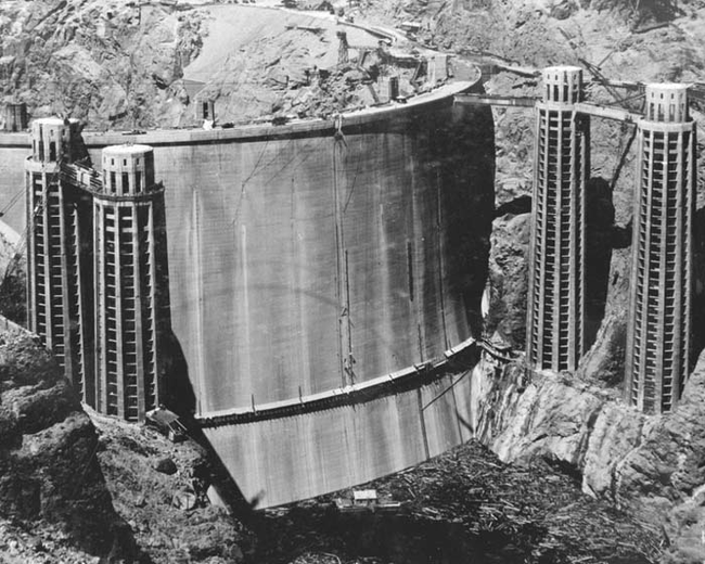rare The Hoover Dam before it was flooded