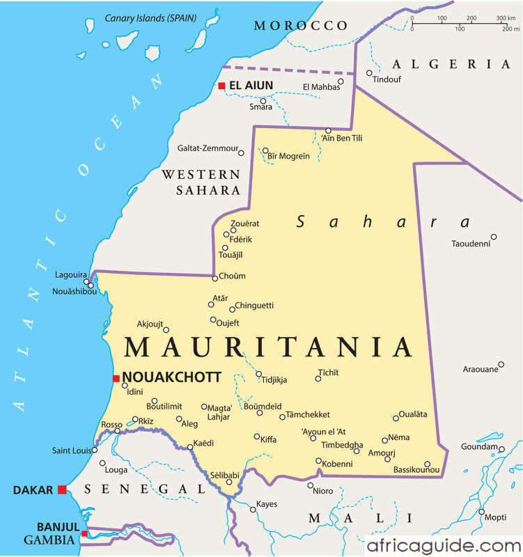 mauritania_political_map
