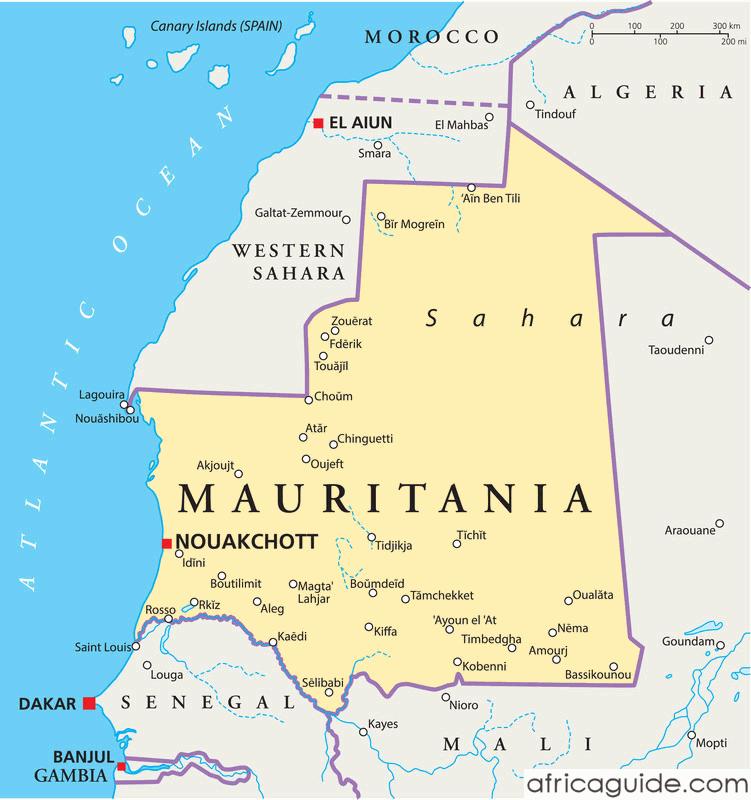 mauritania_political_map