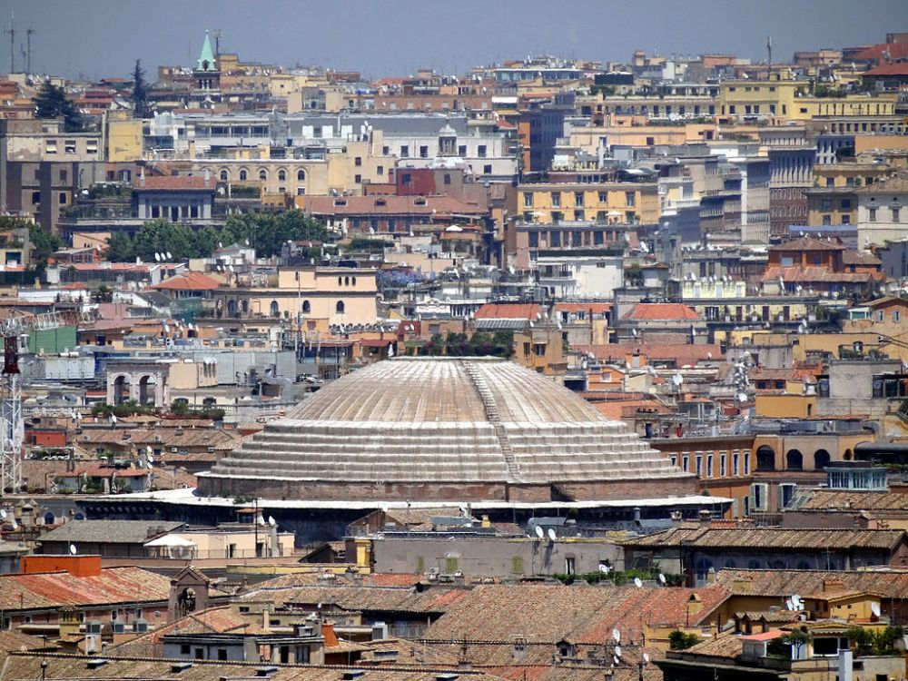 Pantheon-Roof-from-Gianicolo-2012