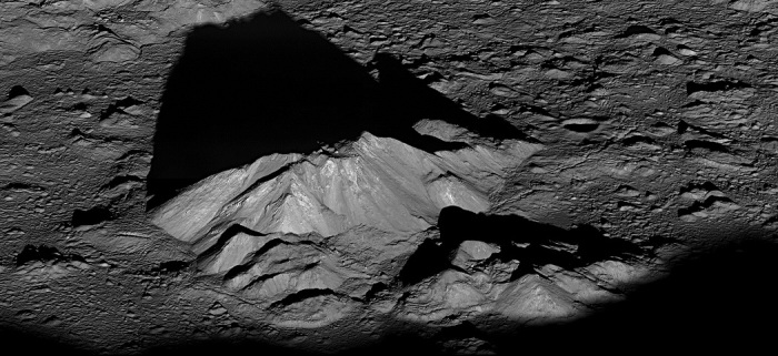 earth LRO_Tycho_Central_Peak