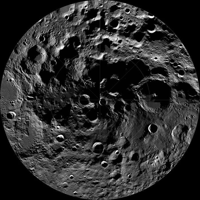 earth LRO_WAC_South_Pole_Mosaic