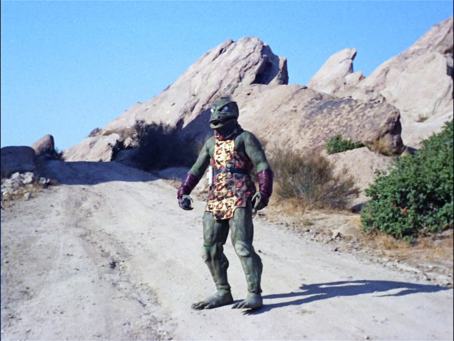 "LOS ANGELES - JANUARY 19: A Gorn in the STAR TREK episode, ""Arena"". Original air date January 19, 1967, season 1, episode 19. Image is a screen grab. (Photo by CBS via Getty Images)"