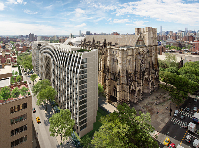 Enclave at the Cathedral, 400 West 113th Street, New York, NY Handel Architects The Brodsky Organization Nancy Packes Inc. Rendering by Archpartners